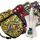 【メール便可】エスニック刺繍スパンコール財布小物入れポーチ
