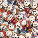 【メール便可】どのコが届くかはお楽しみ モン族のヘンテコ顔のかわいいキーホルダー