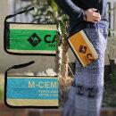 【メール便可】リサイクルバッグポリプロピレン飼料袋クラッチバッグミニバッグ【New】