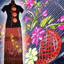 新着!【送料無料】チェンマイコットン絣織り花刺繍巻きスカートNo1〜10