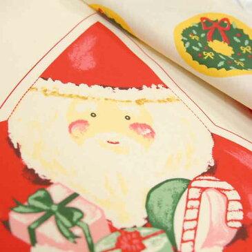 【約60cmパネル】 とっても簡単にサンタのぬいぐるみを作れる面白パネル♪ 【布】【クリスマス柄】【生地】'
