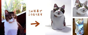 写真から作るマイ招き猫金招き猫(右手上げ)