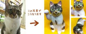 写真から作るマイ招き猫江戸猫(大)