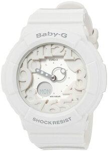 ベビーGBaby-GBGA-160-7B1JFCASIOカシオ内蔵のブラックライトに反応して発光ネオンダイヤルシリーズホワイトレディース腕時計