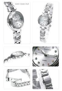 カシオソーラー電波時計SHEENSHW-1504D-7AJFレディースCASIOシーン【新製品】【】【機能】【デザイン】【RCP】【_包装】02P02Aug14