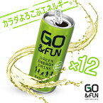【250ml×12缶セット】Go&FUN ゴー・アンド・ファン グルテンフリー GREEN ENARGY DRINK エナジードリンク 微炭酸