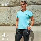 PUMAプーマランニングウェアレディースセット3点(半袖Tシャツ+パンツ+タイツ)福袋初心者上下女性おしゃれかわいいジョギングフルマラソンダイエットフィットネスジムウォーキングレギンススパッツスポーツ登山