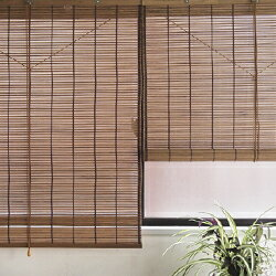 ウッドスクリーン(88×100cm)【ウッドカーテン 簾 すだれカーテン 簾カーテン カーテン アジアン 日除け ロールアップ ロールスクリーン】