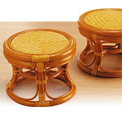 ラタン らくらく籐丸椅子 2個組【籐家具 籐 ラタン製 椅子 チェア ソファー 一人掛け 1人掛けチェア 敬老の日 プレゼント 】