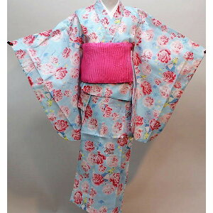 Yukata girl girl Disney Disney Alice in Wonderland 110/120 size 100% cotton Yukata single item, packable, Yasudaya 110: g349562540 120: l534469762