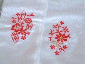七五三 3才 3歳 三才 7才 7歳 七才 三歳七歳 女児用 刺繍の半衿 白 メール便可 新品(株)安田屋