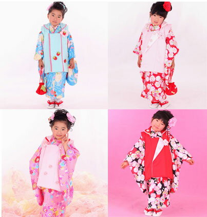 55f8a59f2f2dd 七五三被布着物祝着フルセット☆3歳3才三歳三才 オンライン☆女児女の子 ...