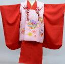 七五三 3才 3歳 三才 三歳 正絹 女児 女の子 被布着物祝着フルセット 日本製 手染め 式部浪漫 新品(株)安田屋c640038375