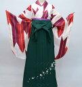 着物袴セット ジュニア用へ直し144cm〜150cm 矢羽 矢絣柄 大...