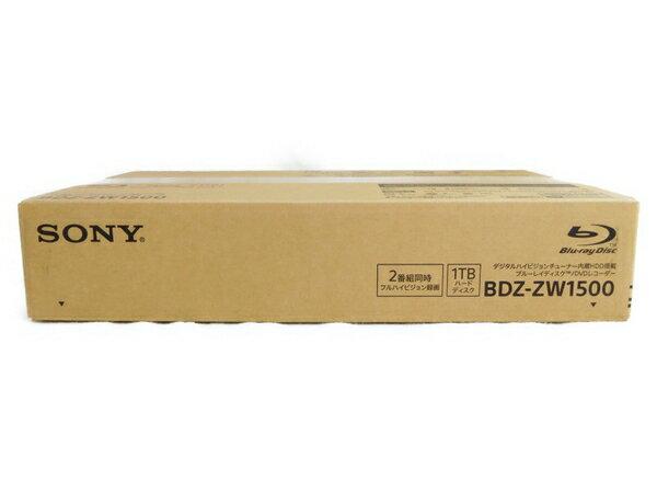 未使用 【中古】 SONY ソニー BDZ-ZW1500 BD ブルーレイ レコーダー デジタルハイビジョンチューナー内蔵HDD 1TB N3520956