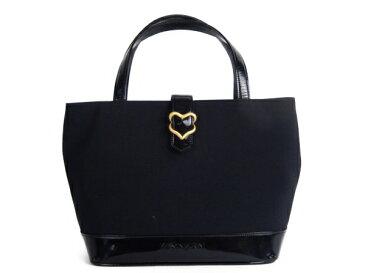 【中古】 イヴサンローラン Yves Saint Laurent トートバッグ キャンバス ブラック Y3271158