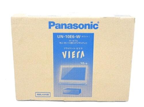 未使用 Panasonic パナソニック プライベート VIERA UN-10E6-W ポータブル テレビ 10型 ...