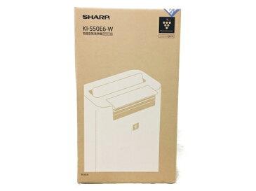 未使用 【中古】 SHARP プラズマクラスター 加湿空気清浄機 KI-S50E6 ホワイト系 N3876345
