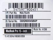 未使用【中古】AppleMacBookProMJLT2J/ARetinaディスプレイノートPCN1757708