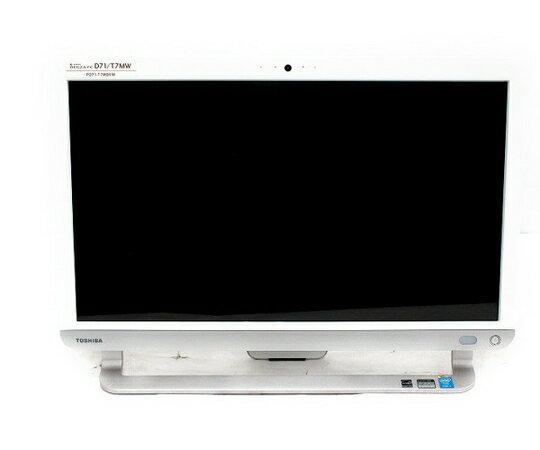 【中古】 中古 東芝 dynabook REGZA PC D71/T7MW 21.5型 2014年製 一体型 Core i7 4710MQ 2.50GHz 8GB HDD1TB OS無し リュクスホワイト  T2509792:ReRe(安く買えるドットコム)