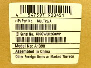 未使用AppleMacBookProMJLT2J/ARetina15.4i716GBSSD512GBノートPCハイスペックS1706358