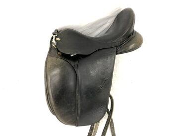 【中古】 CHAMBERLAIN チェンバーレイン KOTACH 17インチ 馬場鞍 腹帯 鐙 馬具 セット 乗馬 K5157861