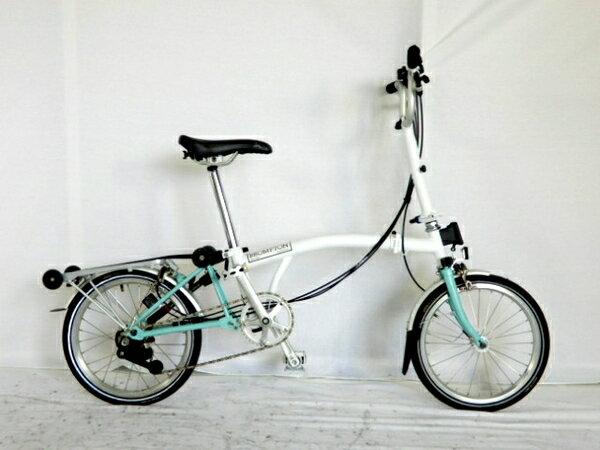 【中古】 ブロンプトン BROMPTON M6R WH 折りたたみ 自転車 16イン...