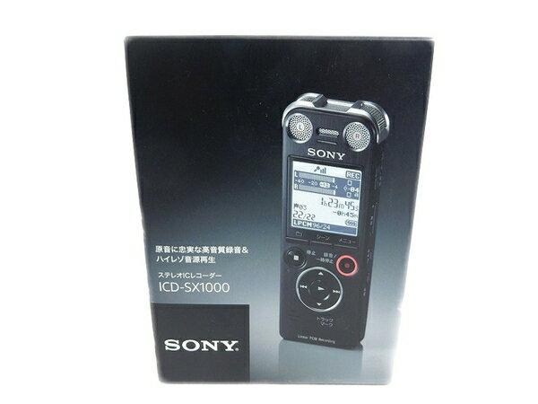 未使用 【中古】 未使用 SONY ソニー ICD-SX1000 B ステレオ ICレコーダー ブラック S2750845