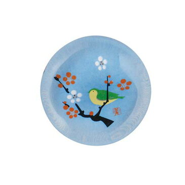 【ミニひな人形】ガラス箸置き(梅にうぐいす)