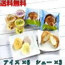 北海道 江戸屋 乳蔵 アイス & シュー クリーム セット 送料無料 スイーツ 計9個 入り 北海道産 バニラ 苺 メロン 使用 その1