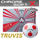 Callaway[キャロウェイ]CHROMESOFTXTRUVIS[クロムソフトエックストゥルービス]ボール(1ダース:12球)