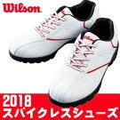 Wilson[ウィルソン]軽量スパイクレスメンズゴルフシューズWSSL1855ホワイト