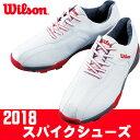 Wilson [ウィルソン] 軽量スパイク メンズ ゴルフシューズ WSSS1860 ホワイト