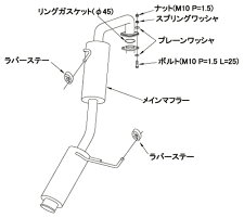 HKSサイレントハイパワーニッサンマーチニスモSK13改用(32016-AN016)【JQR認定品】