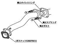 排気系パーツ, フロントパイプ  Standard 10 CZ4A (MF328)KAKIMOTO RACING FRONT PIPE