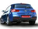 スーパースプリント BMW 1シリーズ 118d F20用 マフラーセット 片側2本出し(521643/521606)【eマーク適合品】【マフラー】Supersprint ハイパフォーマンスエキゾーストシステム