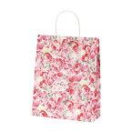 紙袋 手提げ A-4が入る可愛いレース柄 【紙手提げ袋 T-X マレーネ】かわいい花柄50枚入り 260×110×330 プレゼント・ギフトのラッピングに!