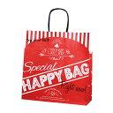 紙袋 手提げ 【紙手提げ袋 T-6 HAPPY BAG】使いやすい50枚入り 業務用 福袋