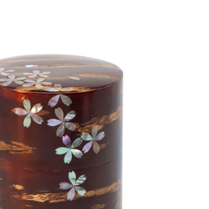 茶筒樺細工八柳総皮茶筒大ラデン桜吹雪150g桜皮日本製伝統工芸山桜お茶緑茶コーヒー紅茶ギフトラッピング