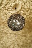 間接照明 ペンダントライト ♪ラタンツイストペンダントライト(ボール型2灯タイプ)♪ 【送料無料】【YAYAPAPUS】 アジアン照明 バリ おしゃれ 天井照明 エスニック