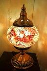 間接照明 スタンドライト (モザイクガラスのアラビアンランプ(3色)) アジアン照明 インド おしゃれ テーブルスタンド 卓上 エスニック リゾート