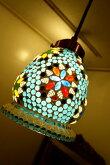 間接照明ペンダントライト♪India製ガラスモザイクペンダントライト(ブルー)♪【送料無料】【05P19May15】アジアン照明インドおしゃれ天井照明母の日ギフト
