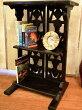 アジアン家具バリ♪原人透かし彫り3段ラック♪【送料無料】収納家具棚飾り棚ディスプレイラックエスニック