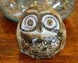 アジアン雑貨バリ♪陶器ミニフクロウ(ブラウン)A♪おしゃれインテリアエスニック置物オブジェアニマル動物