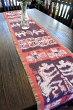 アジアン雑貨バリ♪ココスティックイカットのテーブルセンター(パープル)♪【送料無料】おしゃれインテリアエスニックテーブルクロステーブルウェア