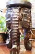 アジアン家具バリ♪3匹ゾウスツール台♪【送料無料】おしゃれインテリアエスニック花台フラワースタンド