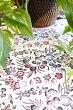 アジアン雑貨バリ♪バティッククロス(バーガンディ)100×95♪おしゃれインテリアエスニックテーブルクロスファブリック