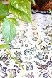 アジアン雑貨バリ♪バティッククロス(ダークグリーン)100×95♪おしゃれインテリアエスニックテーブルクロスファブリック