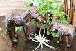 アジアン雑貨バリ♪ロンボク彫刻ゾウ親子セット♪【送料無料】おしゃれインテリアエスニック置物オブジェ動物