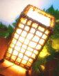 間接照明スタンドライトアジアン♪バナナリーフのチェックコットンランプ♪【送料無料】おしゃれインテリアエスニックチェック網自然素材